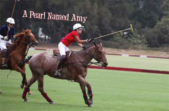 Amy Edwards playing polo
