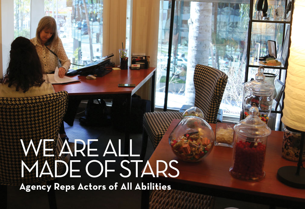 ail Williamson of KMR. We are all made of stars. Talent agency for actors with disabilities